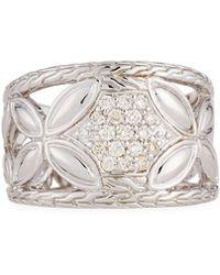 John Hardy - Kawung Floral Diamond Ring Size 7 - Lyst