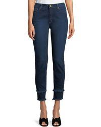 MICHAEL Michael Kors - Double-frayed Hem Skinny Jeans - Lyst