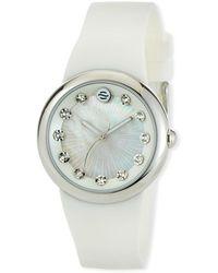 Philip Stein - 36mm Mother-of-pearl Round Watch W/ Crystals White - Lyst