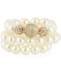 Lydell NYC - Pearly Stretch Bracelets - Lyst