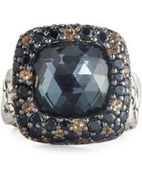 John Hardy - Batu Klasik Square Multi-gem Ring - Lyst