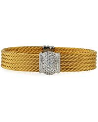 Alor - Five-row Stacked Bangle W/ White Sapphires - Lyst
