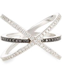 Roberto Coin - 18k Crisscross Two-tone Diamond Ring - Lyst