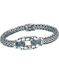 John Hardy - Kali Sterling Silver Bangle Bracelet With Blue Topaz And Iolite - Lyst