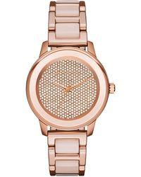 MICHAEL Michael Kors - 38mm Kinley Crystal Bracelet Watch - Lyst