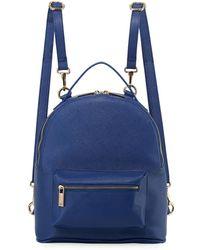 Neiman Marcus - Faux Saffiano Clip-strap Backpack - Lyst
