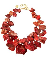 Nest - Jasper Cluster Necklace - Lyst