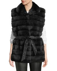 Gorski - Reversible Horizontal-quilted Rabbit-fur Vest - Lyst
