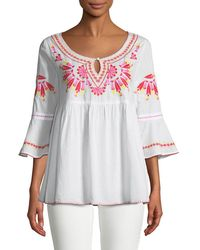 Romeo and Juliet Couture - 3/4-sleeve Embroidered Tunic - Lyst