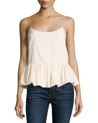 F.t.b By Fade To Blue - Woven Bubble Tank - Lyst