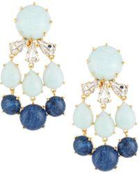 Lele Sadoughi | Papyrus Stone & Crystal Chandelier Earrings | Lyst