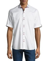Maceoo - Shaped-fit Fresh-square Double-button Sport Shirt - Lyst