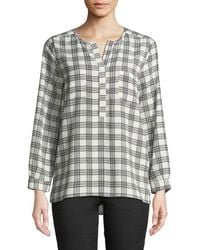 762ac3c47ff1bb Lyst - Joie Nepal Printed Washed-silk Top in Gray