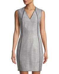T Tahari - Lakira V-neck Sheath Dress - Lyst