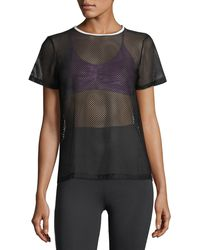 Koral Activewear - Size Up Open-mesh Tee - Lyst