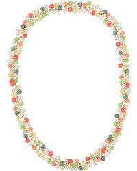 Kenneth Jay Lane - Multicolor Bead-drop Necklace - Lyst