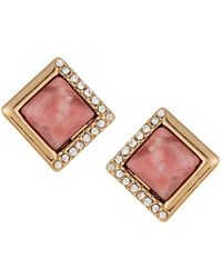 Lydell NYC | Diamond-shaped Stud Earrings | Lyst