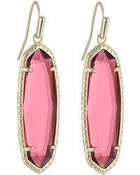 Kendra Scott Layla Drop Earrings Berry Glass