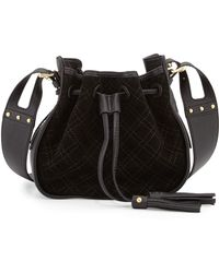 Isabella Fiore - Urban Quilted Suede Crossbody Bag - Lyst