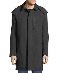 Marc New York - Boulevard Herringbone Coat W/ Removable Hood - Lyst