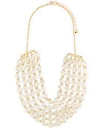 Lydell NYC - Multi-strand Glass Beaded Necklace - Lyst
