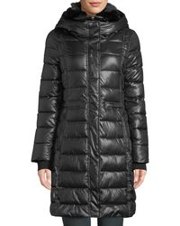 French Connection - Long-sleeve Faux-fur Hooded Puffer Coat - Lyst