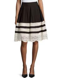 Cirana - Lace-inset A-line Skirt - Lyst