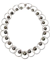 Assael - 18k White Gold & Tahitian Pearl Linked Choker Necklace - Lyst