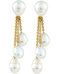 Assael - 18k White South Sea Pearl Drop Clip Earrings - Lyst