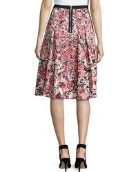 Phoebe - Floral Jacquard Midi Skirt - Lyst