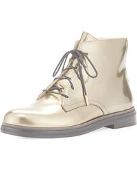 Jimmy Choo - Burke Mirror Leather Lace-up Boot - Lyst
