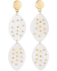 Lydell NYC - Flat Pearly Disc Dangle Earrings - Lyst