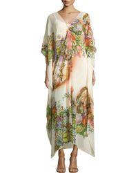 Alberto Makali - Floral-print Embellished Caftan - Lyst