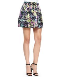 Alice & Trixie - Lincoln Bright Zigzag Pleated Skirt - Lyst
