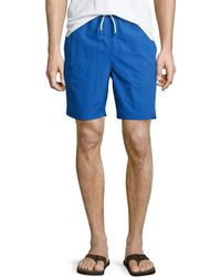 Neiman Marcus - Solid Swim Trunks - Lyst