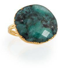 Nakamol - Round Golden Stone Statement Ring - Lyst
