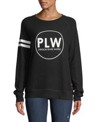 Peace Love World - Varsity Striped Comfy Top - Lyst