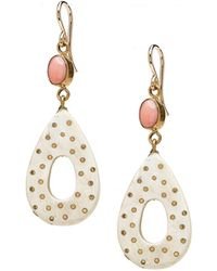 Ashley Pittman - Light Horn Teardrop Dangle Earrings - Lyst
