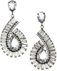 R.j. Graziano - Swirling 70s Glam Drop Earrings - Lyst