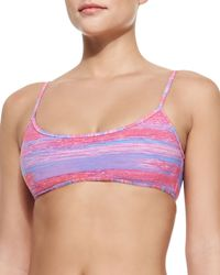 Marc Jacobs - Sam Striped Balconette Bikini Top - Lyst
