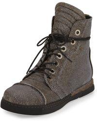 Stuart Weitzman - Zipit Shimmery High-top Sneaker - Lyst