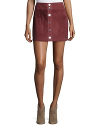Townsen - Lotta Suede Mini Skirt - Lyst