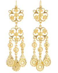 Jose & Maria Barrera - Filigree Dangle Earrings - Lyst