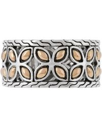 John Hardy - Kawung 18k Gold & Sterling Silver Band Ring Size 7 - Lyst