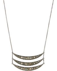 Bavna - Labradorite & Diamond Triple-crescent Pendant Necklace - Lyst