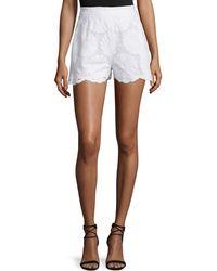 Nicholas | High-waist Sunflower-lace Shorts | Lyst
