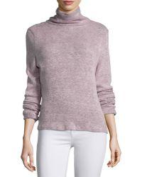 Goldie London - Polar Side-zip Turtleneck Sweater - Lyst