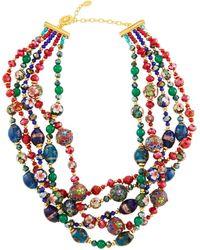 Jose & Maria Barrera - Five-row Multi-jewel Twist Necklace - Lyst