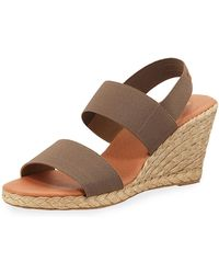 Andre Assous - Allison Stretch-strap Wedge Espadrilles - Lyst