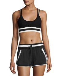 BLANC NOIR - Ballet Wrap Sports Bra Top Black - Lyst